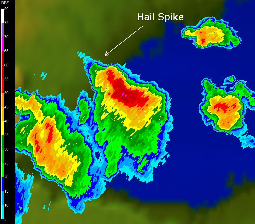 Hail Spikes On Doppler Radar Imagery - Nws buffalo radar